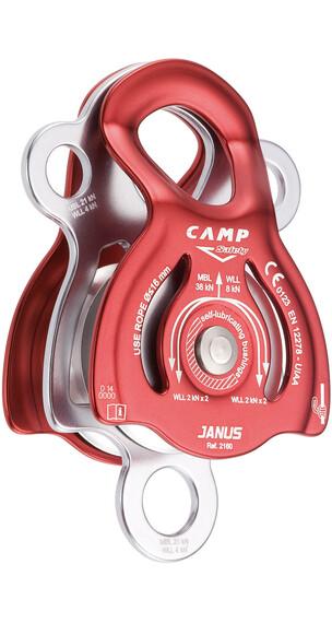 Camp Janus katrol rood/zilver
